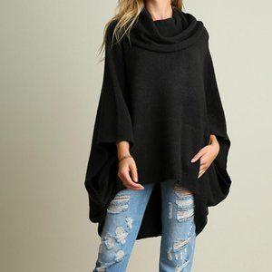 Umgee Oversized Sweater Poncho